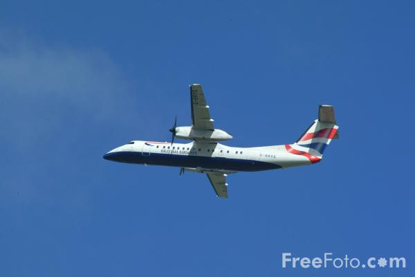 Picture of Brymon Airways British Airways Express Dash 8 G-BRYS - Free Pictures - FreeFoto.com