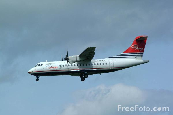 Picture of Gill Airways ATR 42 turboprop - Free Pictures - FreeFoto.com