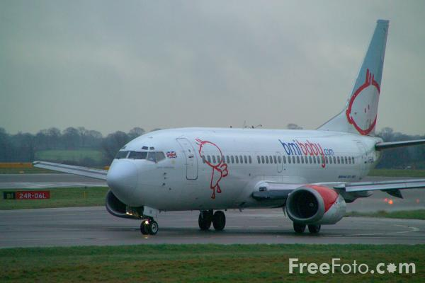 Picture of BMI Baby Boeing 737 - Free Pictures - FreeFoto.com