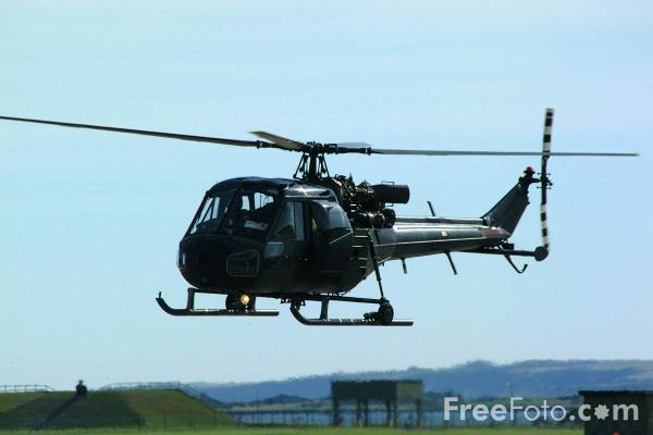 Picture of Westland Scout AH.1 Helicopter, Army Air Corps Historic Flight, RAF Leuchars Airshow - Free Pictures - FreeFoto.com