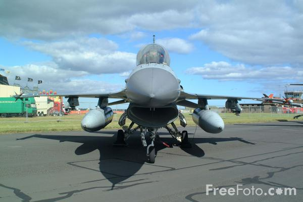 Picture of Royal Danish Airforce F-16, RAF Leuchars Airshow - Free Pictures - FreeFoto.com