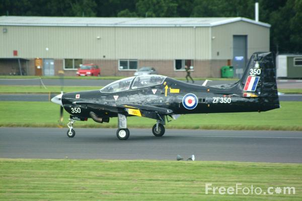 Picture of RAF Tucano basic fast-jet trainer, RAF Leuchars Airshow - Free Pictures - FreeFoto.com