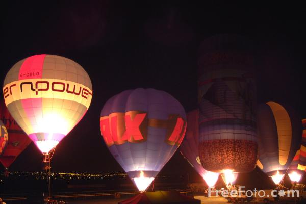 Picture of Night Glow, Newcastle Balloon Festival - Free Pictures - FreeFoto.com