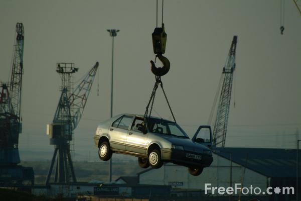 Picture of Car in Scrapyard - Free Pictures - FreeFoto.com