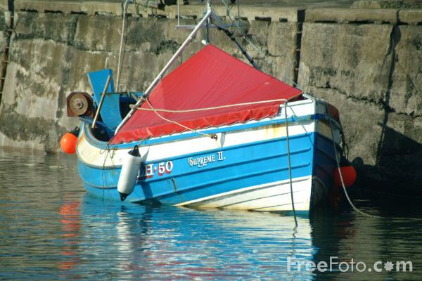 Picture of Fishing Boat, Craster, Northumberland - Free Pictures - FreeFoto.com
