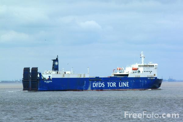 Picture of DFDS Tor Line Ferry Tor Minerva - Free Pictures - FreeFoto.com