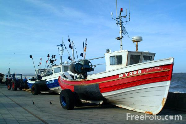 Picture of Fishing Boats, Redcar Sea Front, Cleveland - Free Pictures - FreeFoto.com