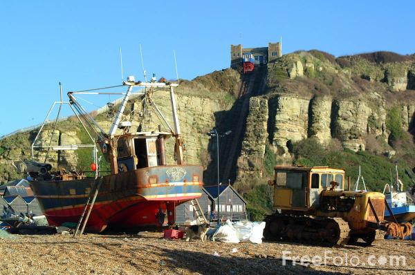 Picture of Fishing Boats, Hastings, East Sussex - Free Pictures - FreeFoto.com
