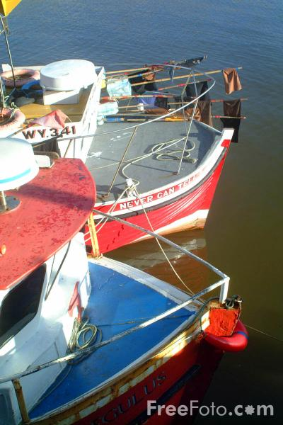 Picture of Fishing Boats, Whitby Harbour, North Yorkshire - Free Pictures - FreeFoto.com