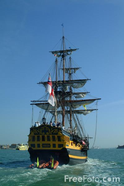 Picture of The Grand Turk, Portsmouth Harbour - Free Pictures - FreeFoto.com