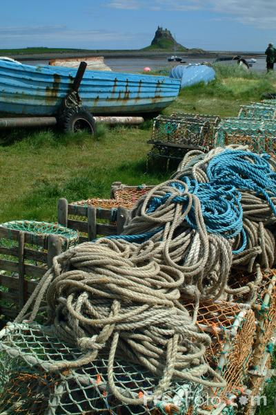 Picture of Lobster Pots, Holy Island, Northumberland - Free Pictures - FreeFoto.com