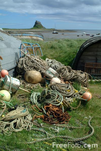 Picture of Fishing Junk, Holy Island, Northumberland - Free Pictures - FreeFoto.com