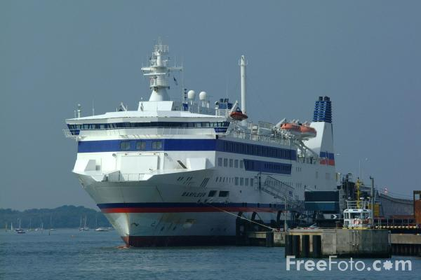 Picture of Brittany Ferries Barfleur, Poole Harbour - Free Pictures - FreeFoto.com