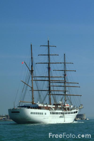 Picture of 312ft. three masted barque Sea Cloud 11 - Free Pictures - FreeFoto.com