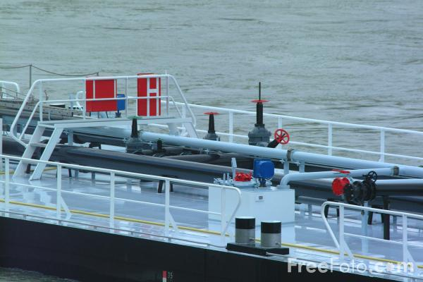 Picture of Barge RP Rheinfelden, River Rhine, Basel, Switzerland - Free Pictures - FreeFoto.com