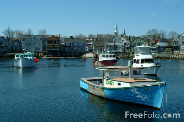 Fishing Boat Rockport Massachusetts Usa Pictures Free