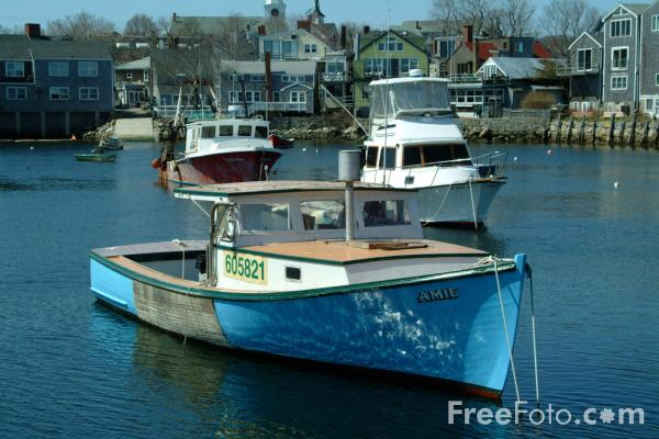 Picture of Fishing Boat, Rockport, Massachusetts, USA - Free Pictures - FreeFoto.com