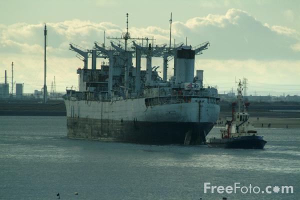 Picture of Ghost Ship Caloosahatchee docks on Teesside - Free Pictures - FreeFoto.com