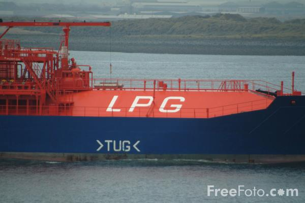 Picture of Gas Tanker Odergas - Free Pictures - FreeFoto.com