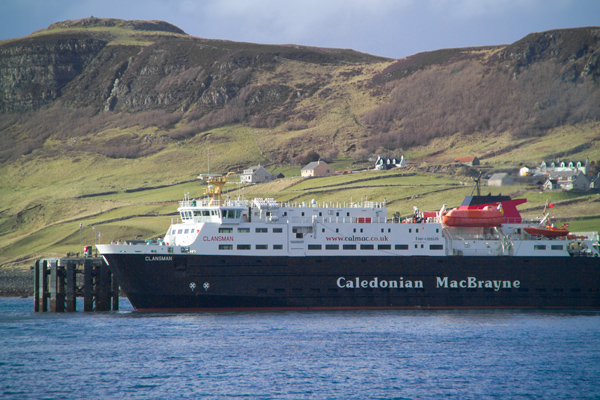 Picture of M/F Clansman, Caledonian MacBrayne Ferry, Uig, Isle of Skye, Scotland - Free Pictures - FreeFoto.com
