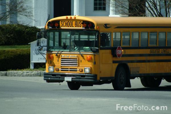 Picture of Yellow School Bus - Free Pictures - FreeFoto.com
