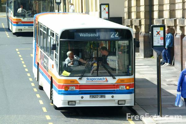 Picture of Stagecoach Single Decker Bus - Scania N113CRB Alexander PS F920JRG - Free Pictures - FreeFoto.com