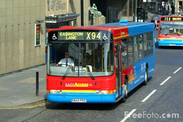 Picture of Single Decker Bus 4844 R844PRG Volvo B10BLE Wright of Go Wearside - Free Pictures - FreeFoto.com