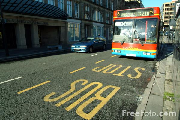 Picture of Bus Stop - Free Pictures - FreeFoto.com