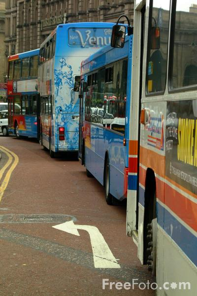 Picture of Buses in Newcastle City Centre - Free Pictures - FreeFoto.com