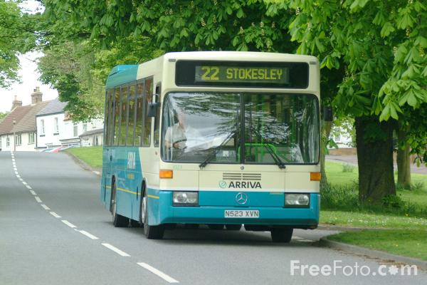 Picture of Arriva Stokesley bus service in Hutton Rudby - Free Pictures - FreeFoto.com