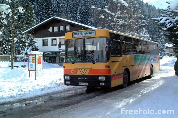 Picture of Post Bus, Bad Gastein, Austria. - Free Pictures - FreeFoto.com