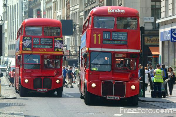 Picture of Red Routemaster double decker bus, London - Free Pictures - FreeFoto.com