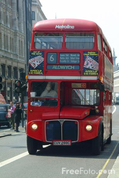 Picture of Red London Bus - Free Pictures - FreeFoto.com