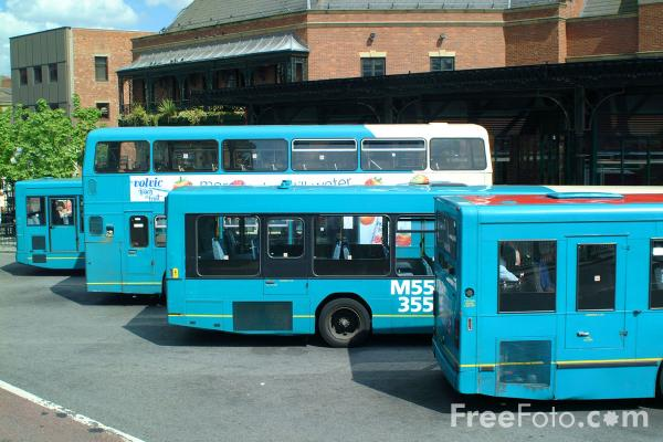 Picture of Arriva Bus Service, Haymarket Bus Station, Newcastle - Free Pictures - FreeFoto.com