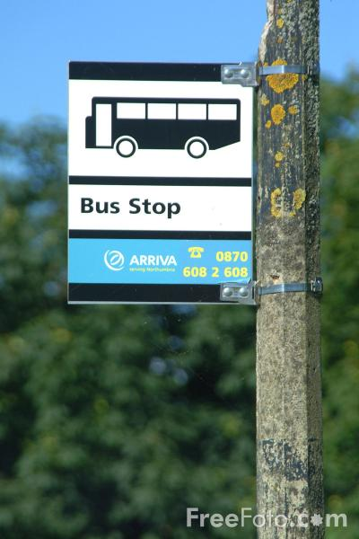 Picture of Arriva Bus Stop - Free Pictures - FreeFoto.com