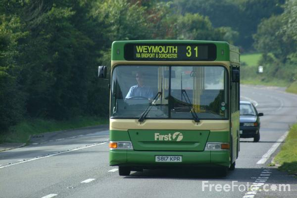 Picture of First Group UK Bus Service, Dorset - Free Pictures - FreeFoto.com