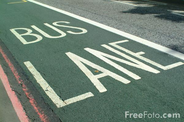 Picture of Bus Lane - Free Pictures - FreeFoto.com
