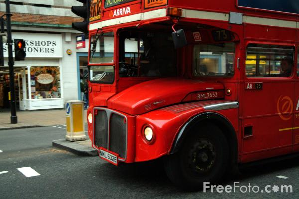 Picture of Red Routemaster London Bus - Free Pictures - FreeFoto.com
