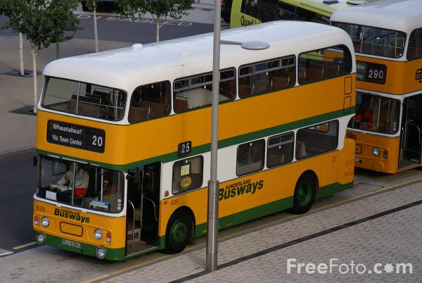Picture of Preserved Sunderland Busways Bus - Free Pictures - FreeFoto.com