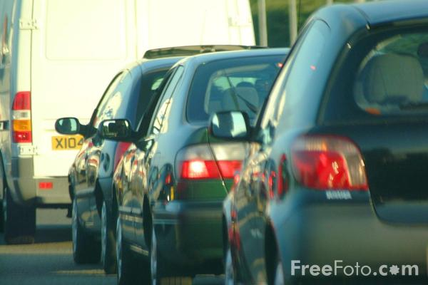 Picture of Traffic jam on the M1 Motorway - Free Pictures - FreeFoto.com