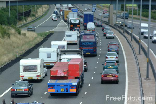 Picture of Congestion, M5 Motorway - Free Pictures - FreeFoto.com
