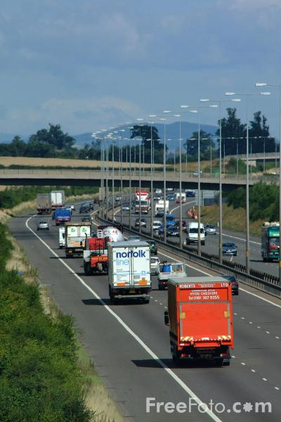 Picture of M5 Motorway - Free Pictures - FreeFoto.com