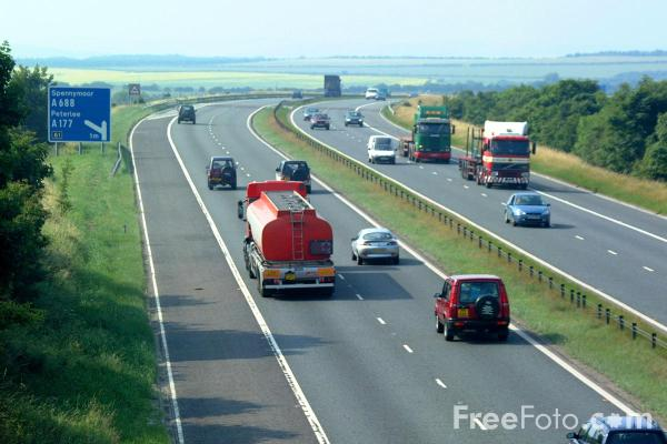 Picture of A1M Motorway, County Durham - Free Pictures - FreeFoto.com