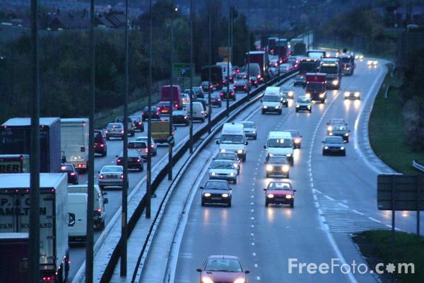Picture of Rush Hour, A1 Western By Pass, Dunston, Gateshead - Free Pictures - FreeFoto.com