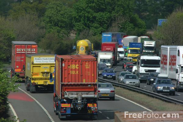 Picture of Traffic Congestion, A1 Dual Carriageway, North Yorkshire - Free Pictures - FreeFoto.com