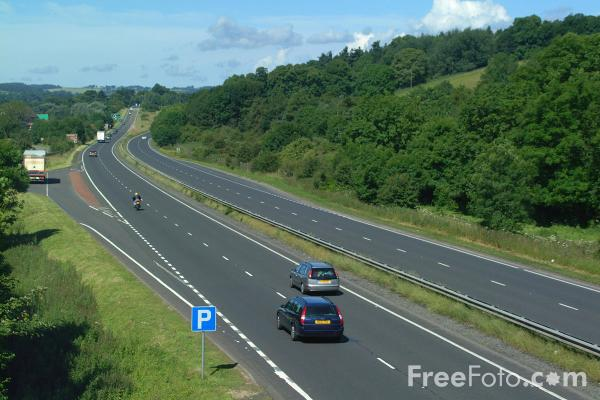Picture of A69 Trunk Road, Hexham, Northumberland - Free Pictures - FreeFoto.com