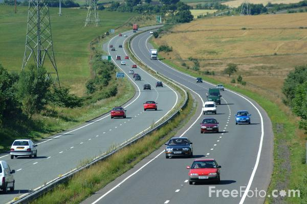 Picture of A69 Trunk Road - Free Pictures - FreeFoto.com