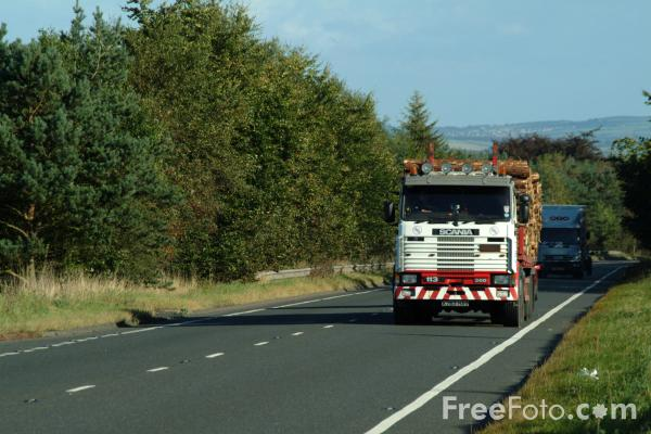Picture of A69 Trunk Road, West of Hexham, Northumberland - Free Pictures - FreeFoto.com