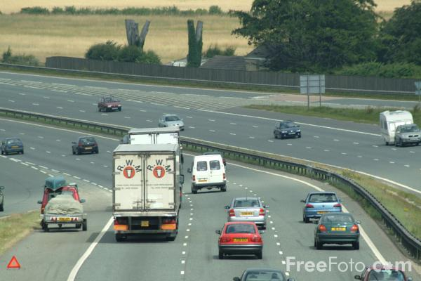 Picture of A1 Dual Carriageway, North Yorkshire - Free Pictures - FreeFoto.com