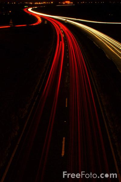 Picture of A19 Trunk Road at night, Sunderland - Free Pictures - FreeFoto.com